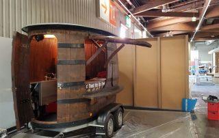 Messe Nürnberg Messestand Bier Augustiner mobile Bar Weinfass Bierfass