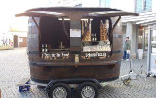 Brezen Sancks Verkaufswagen Ausschank Zoigl Bier Coca Cola mobile Theke