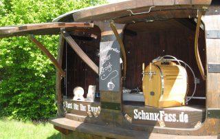 Durchlaufkühler Schnapsfass Bierfass Weinfass Eichenholz mobile Bar Ausschank